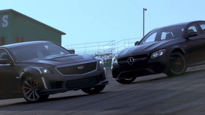 Srovnávací test Mercedes-AMG E63 S vs. Cadillac CTS-V