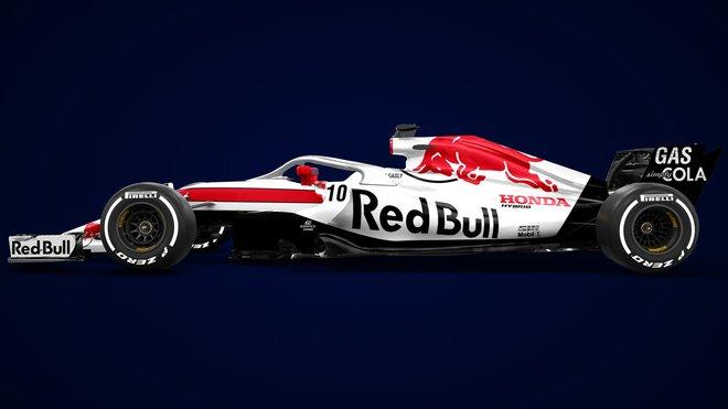 Jeden z neoficiálních grafických návrhů nového Toro Rosso STR13