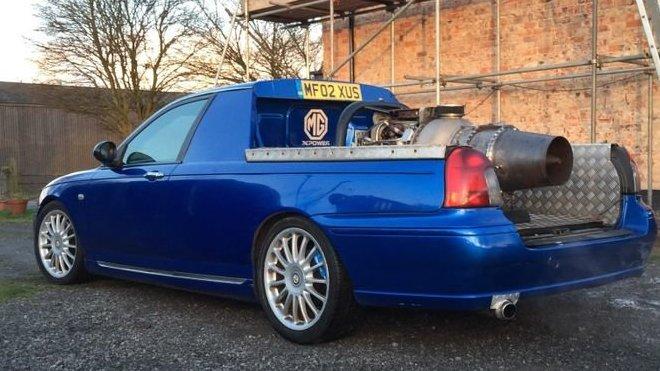Upravené MG ZT s proudovým motorem Rolls-Royce