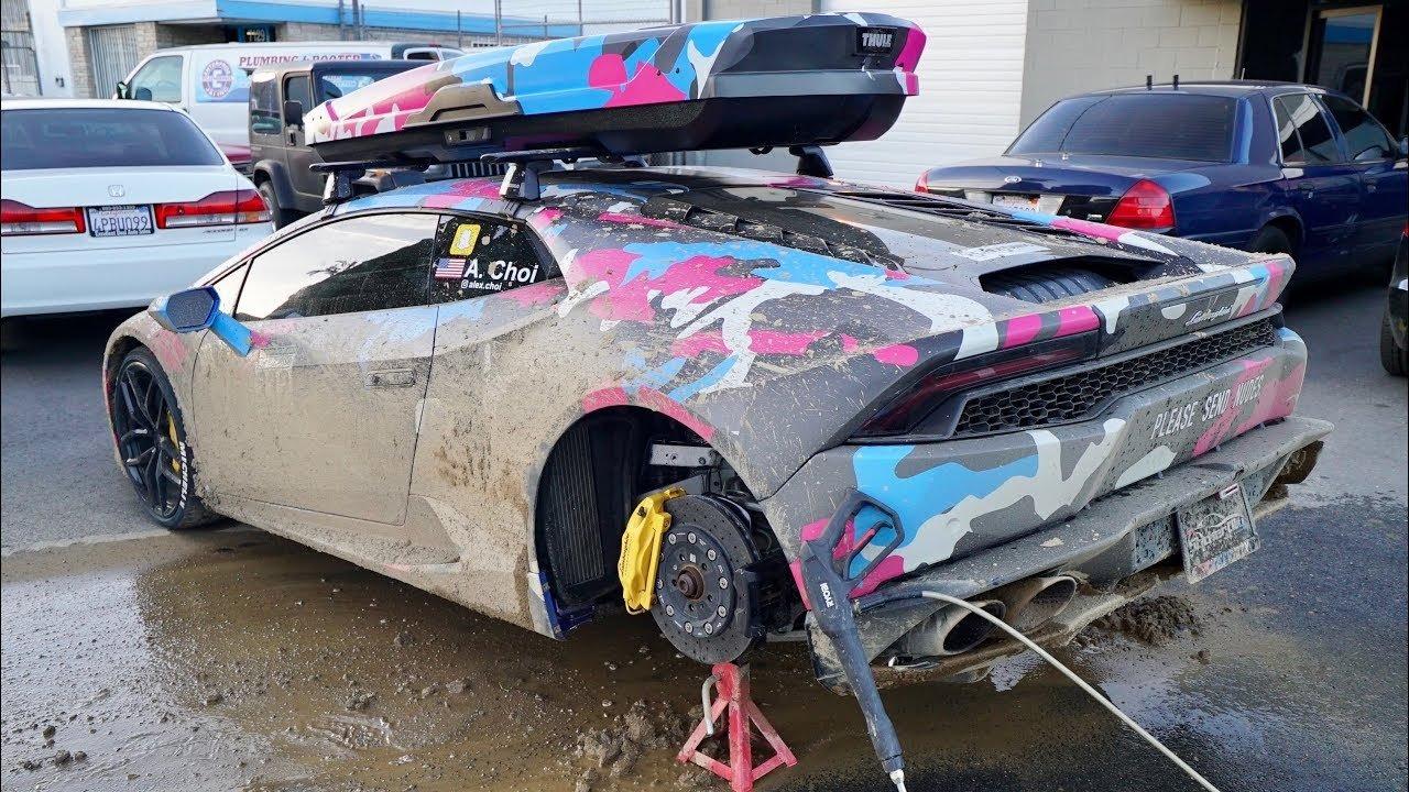 Lamborghini Aventador bahenní lázeň příliš neocenilo