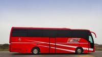 Autobus závodní stáje Ferrari, kterým cestoval i Michael Schumacher nebo Rubens Barrichello