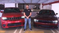 Souboj dvou vozidel se stejnými motory nakonec vyhrál brutální Jeep Grand Cherokee Trackhawk