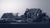 Součástky vznikajícího Bugatti Chiron ze stavebnice LEGO