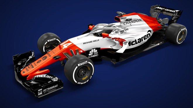 Jeden z grafických návrhů nového McLarenu