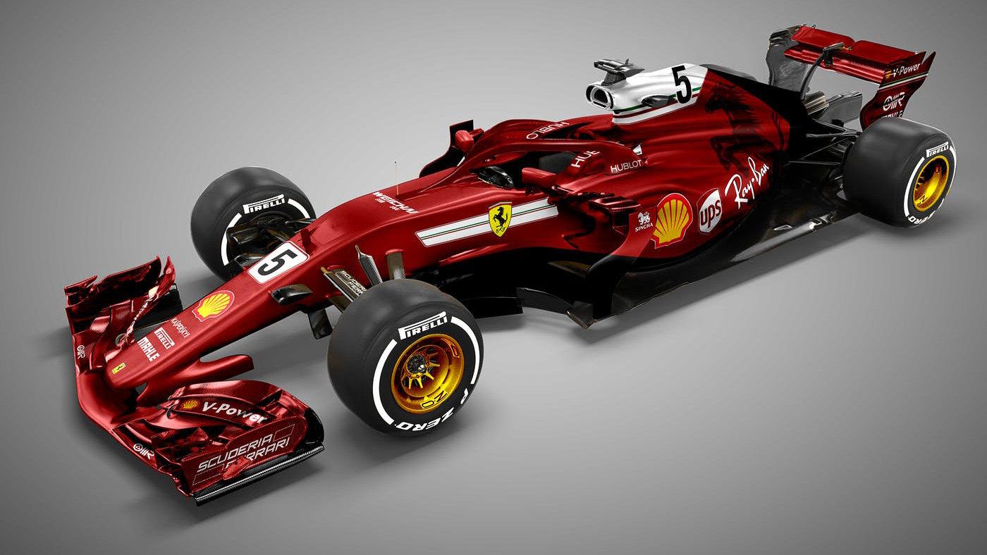 Jeden z grafických návrhů nového Ferrari