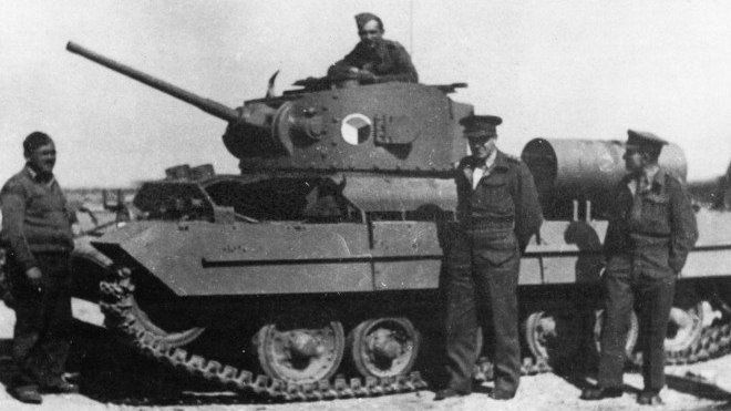 První dva československé tanky (typ Valentine) si vojáci zprovoznili svépomocí