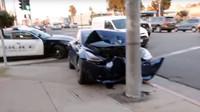 První vážně nabouraná Tesla Model 3