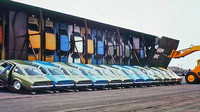 Znáte vagony Vert-A-Pac? Děsivý přepravní systém pomohl snižovat ceny automobilů - anotační foto