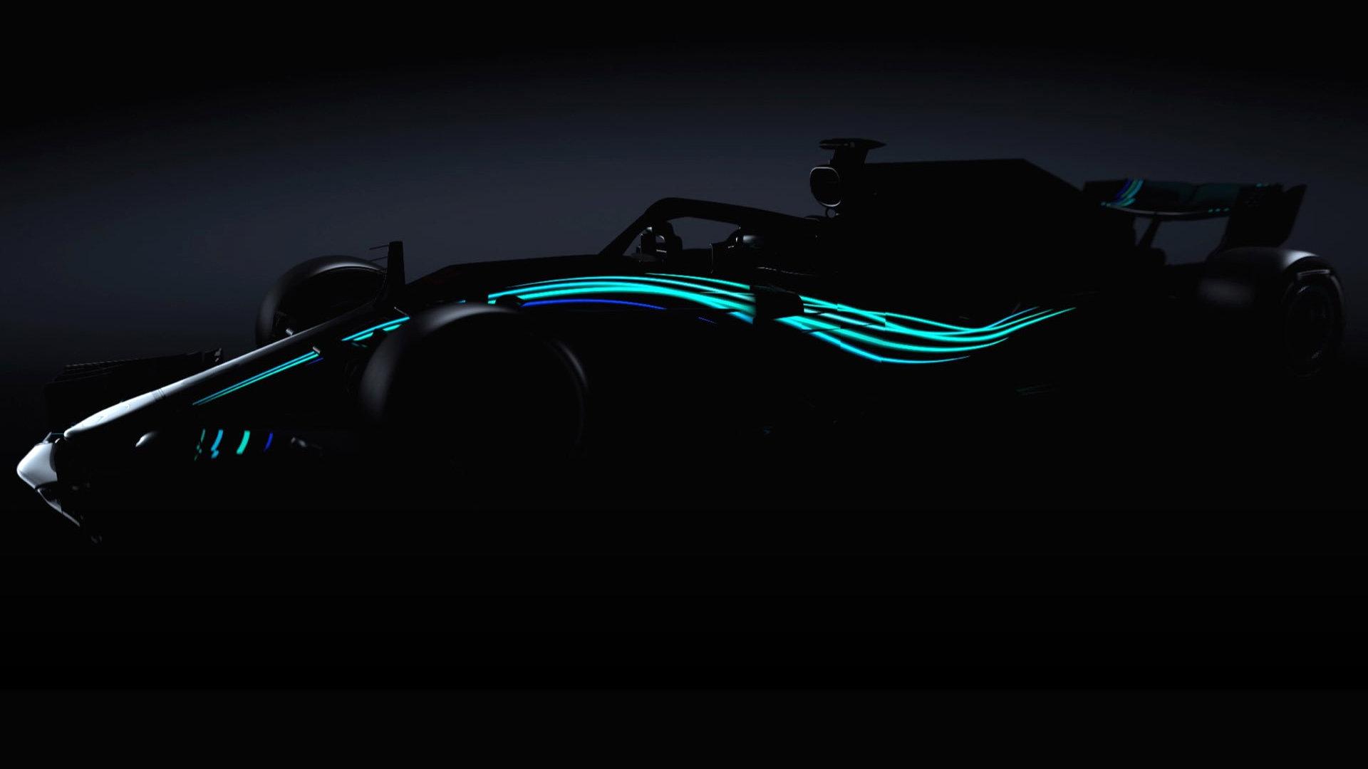 První snímek nového Mercedesu: silueta W09