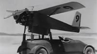 Tajemný automobil se dvěma motory Cadillac o výkonu 165 koní pomáhal prototypu létající dálkově řízené bomby se vzlétnutím