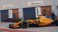 První jízda Alonsa s novým McLarenem MCL33