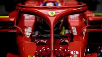 Kimi Räikkönen při prvních předsezonních testech v Barceloně