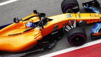 Fernando Alonso při prvních předsezonních testech v Barceloně