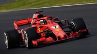 Kimi Räikkönen s Ferrari SF71H při testech v Barceloně