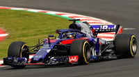 Brendon Hartley s Toro Rosso STR13 v Barceloně