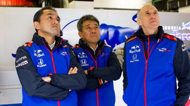 Franz Tost (vpravo) je se spoluprací s japonskými partnery spokojen