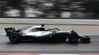 Valtteri Bottas poslední den prvních předsezonních testů v Barceloně