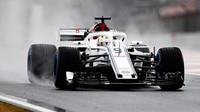 V 3. deštivém tréninku nejrychlejší Leclerc, Mercedesy a Red Bully bez časů - anotační foto