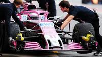 Sergio Pérez poslední den prvních předsezonních testů v Barceloně