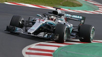 Lewis Hamilton poslední den prvních předsezonních testů v Barceloně