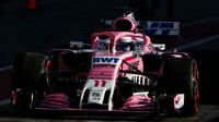 Sergio Perez v druhých předsezonních testech v Barceloně
