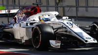 Marcus Ericsson v druhých předsezonních testech v Barceloně