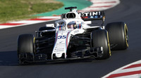 Robert Kubica během testování Williamsu FW41 v Barceloně