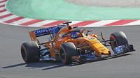 McLaren během předsezónních testů v Barceloně