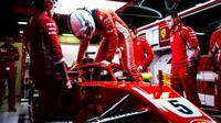Sebastian Vettel v druhých předsezonních testech v Barceloně