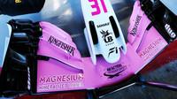 Přední křídlo vozu Force India VJM11 - Mercedes v Barceloně