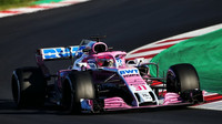Esteban Ocon v druhých předsezonních testech v Barceloně