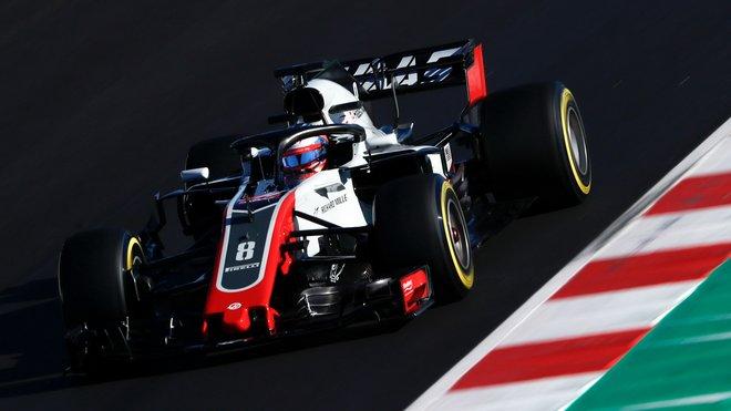 Romain Grosjeans Haasem VF-18 v Barceloně