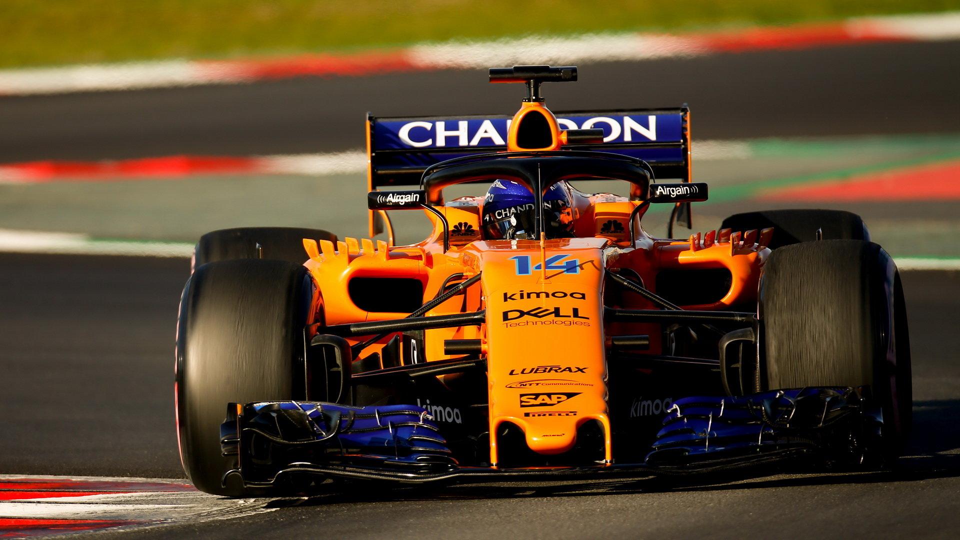 Poslední den testů v Barceloně si Fernando spravil chuť