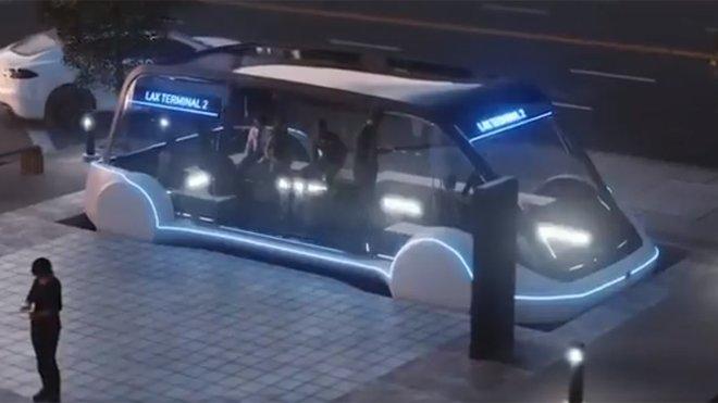 Speciální kapsle pro přepravu lidí v systému Boring Company