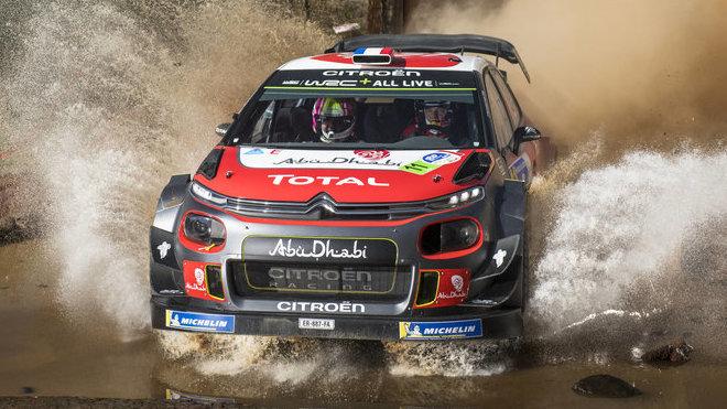 Sébastien Loeb na trati Rally Mexiko