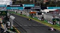 GRAFIKA: Startovní rošt v Austrálii po penalizaci Ricciarda a Bottase - anotační foto