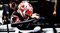 Kevin Magnussen při pátečním tréninku v Melbourne v Austrálii
