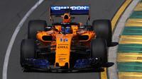 McLaren během tréninků v Austrálii
