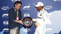 Lewis Hamilton v kvalifikaci po Melbourne v Austrálii