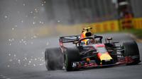 Max Verstappen v kvalifikaci v Melbourne v Austrálii