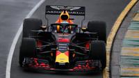 Daniel Ricciardo v kvalifikaci v Melbourne v Austrálii