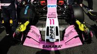 Přední křídlo vozu Force India v Melbourne v Austrálii