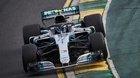 Valtteri Bottas v závodě v Melbourne v Austrálii