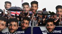 Fanoušci Daniela Ricciarda v Melbourne v Austrálii