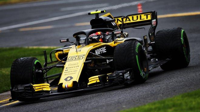 Carlos Sainz s Renaultem RS18 v Austrálii