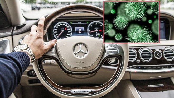 V interiéru používaných automobilů se může nacházet velké množství bakterií