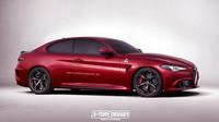 Grafický návrh Alfa Romeo Giulia Quadrifoglio v provedení kupé