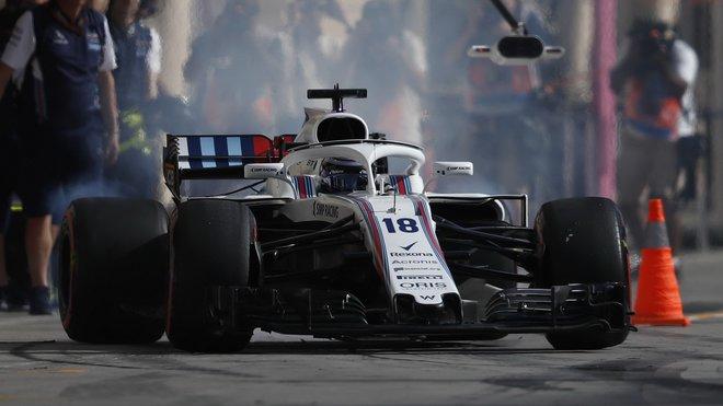 Lance Stroll skončil v kvalifikaci na Velkou cenu Bahrajnu poslední