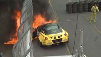 Ferrari 599 Fiorella skončilo hned během prvního závodu