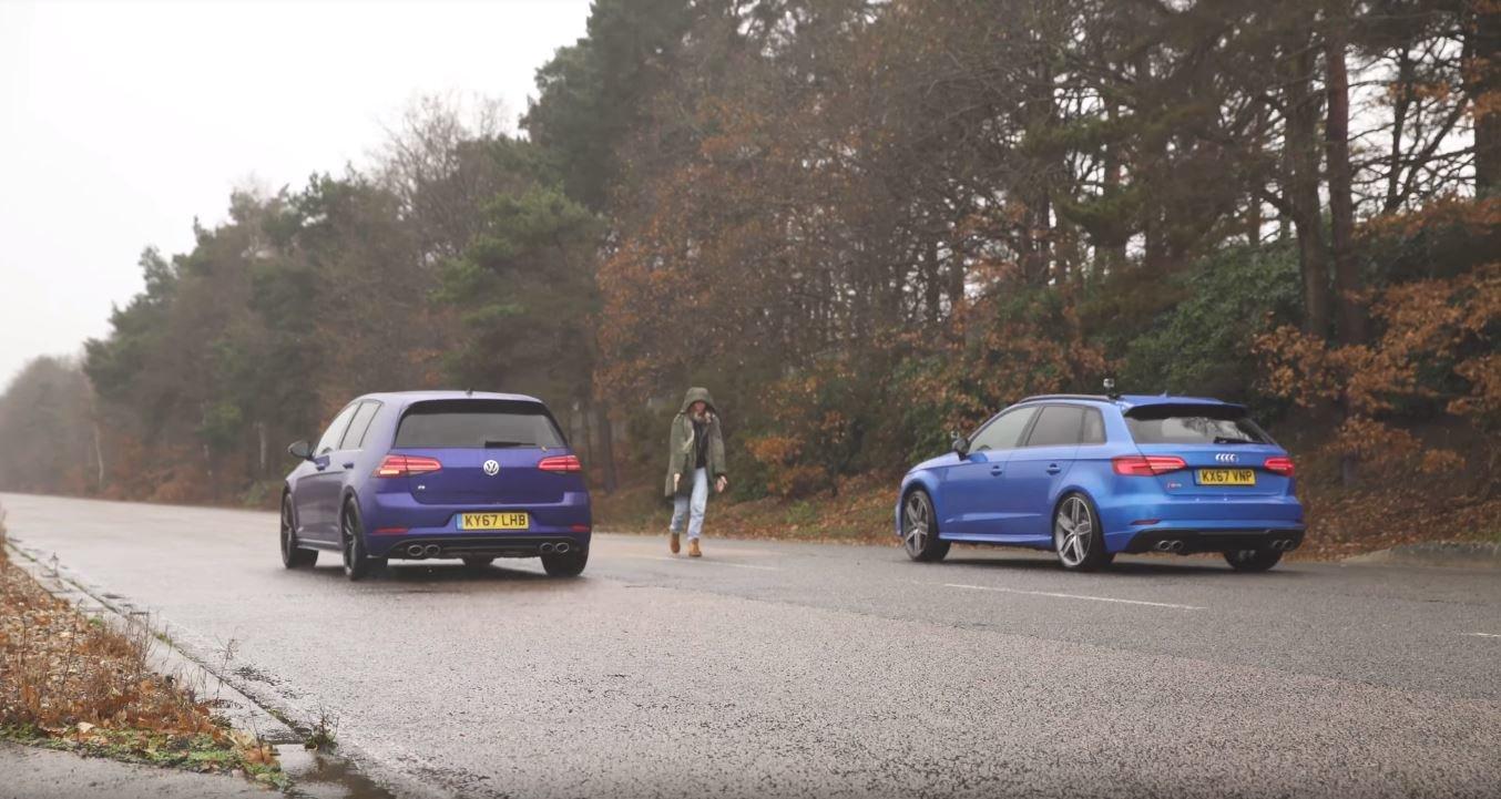 Souboj manuál vs. automat jednoznačně vyhrála Audi RS3 s automatem DSG